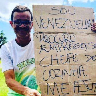 Princípio  da sobrevivência – Quem sabe cozinhar, não passa fome. Venezuelano foge da fome  e encontra solidariedade  em São Luís