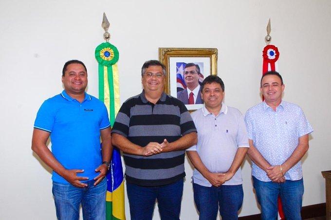 Flávio Dino debate ações com Weverton, Márcio Jerry e prefeito Erlânio