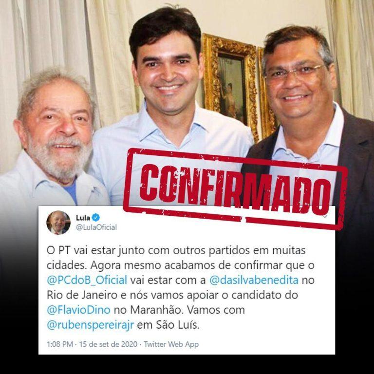 Ex-presidente Lula declara apoio a Rubens Jr em São Luís…