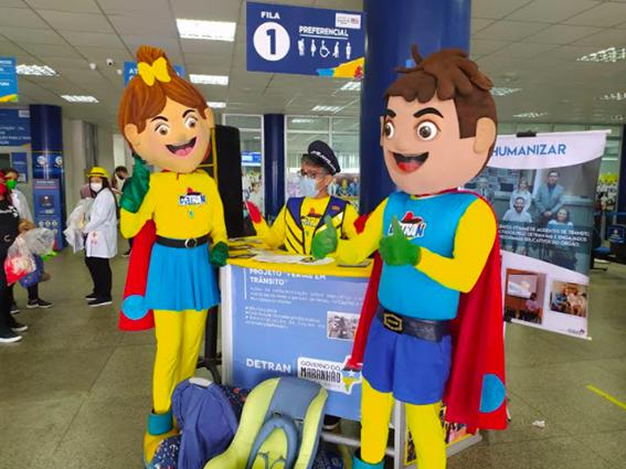 """Detran-MA lança """"Jornal do Trânsito Legal"""" e apresenta mascotes…"""