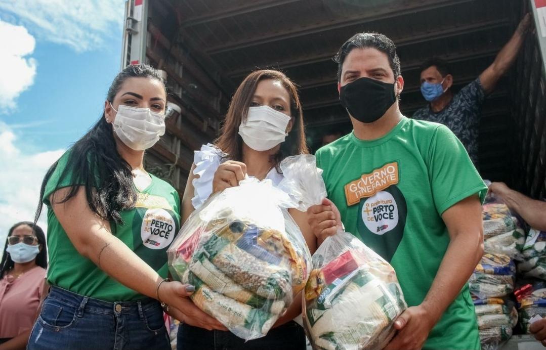 Luciano Genésio distribui cestas básicas em região de Pinheiro…